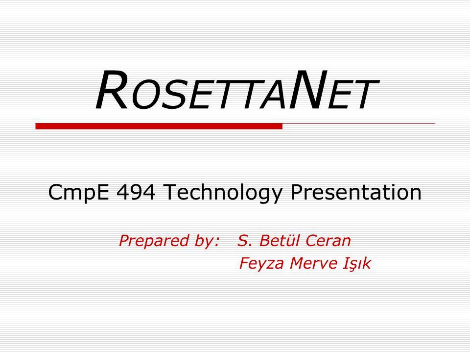 R OSETTA N ET CmpE 494 Technology Presentation Prepared by: S. Betül Ceran Feyza Merve Işık