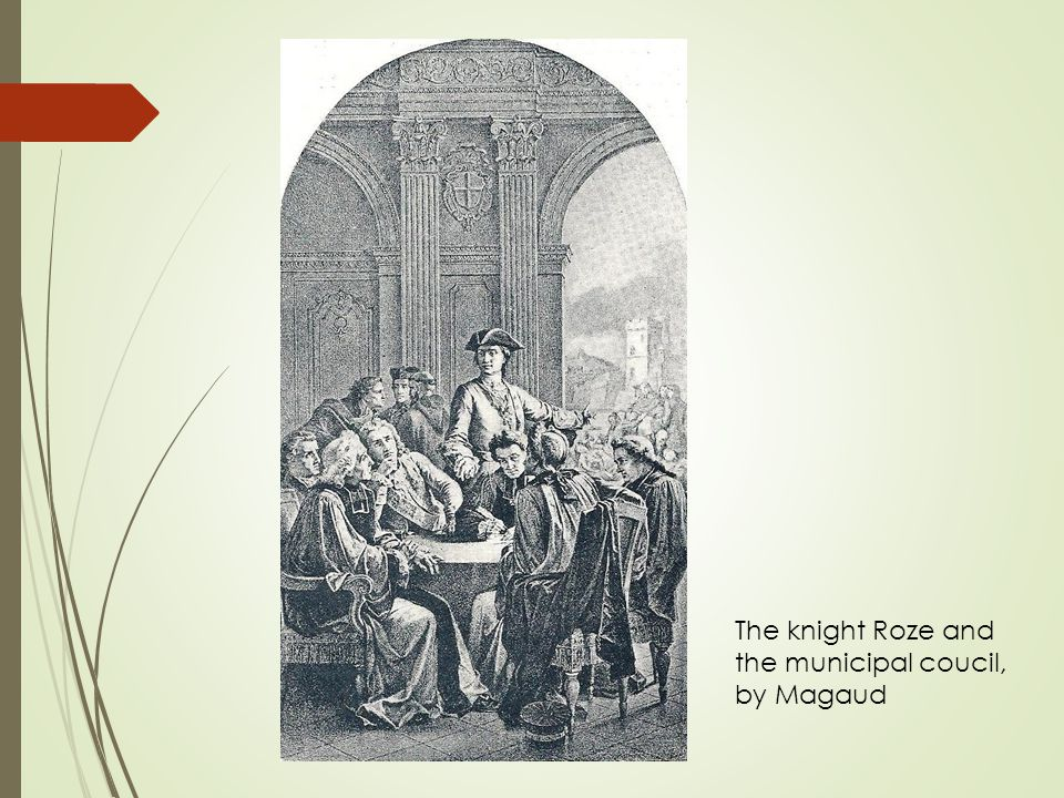 The knight Roze and the municipal coucil, by Magaud