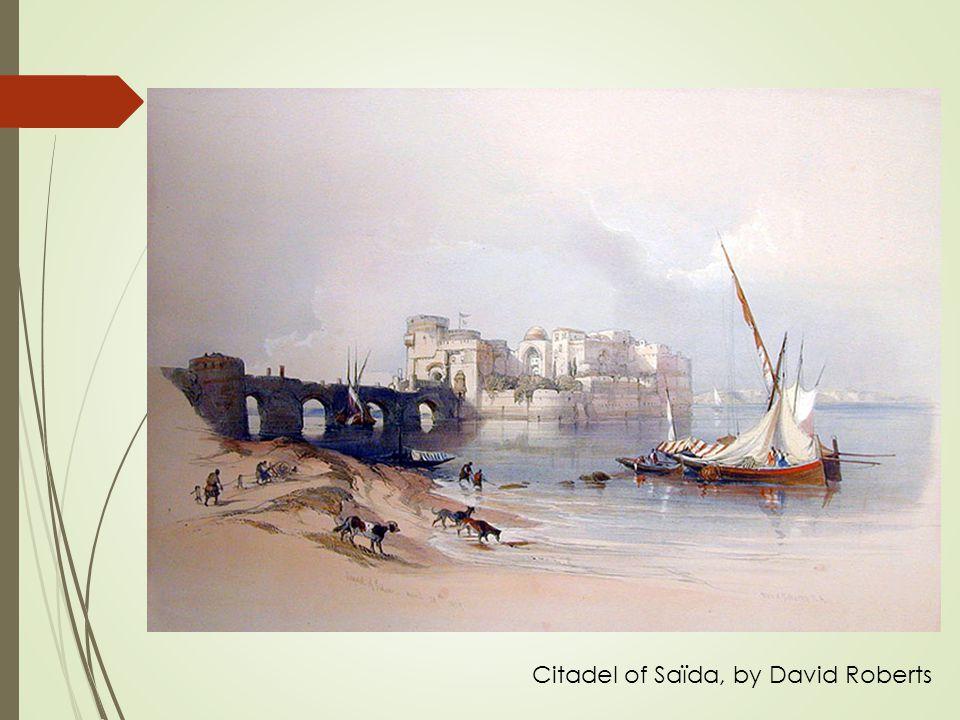 Citadel of Saïda, by David Roberts