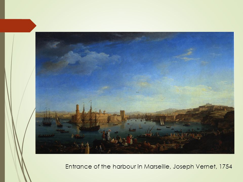 Entrance of the harbour in Marseille, Joseph Vernet, 1754