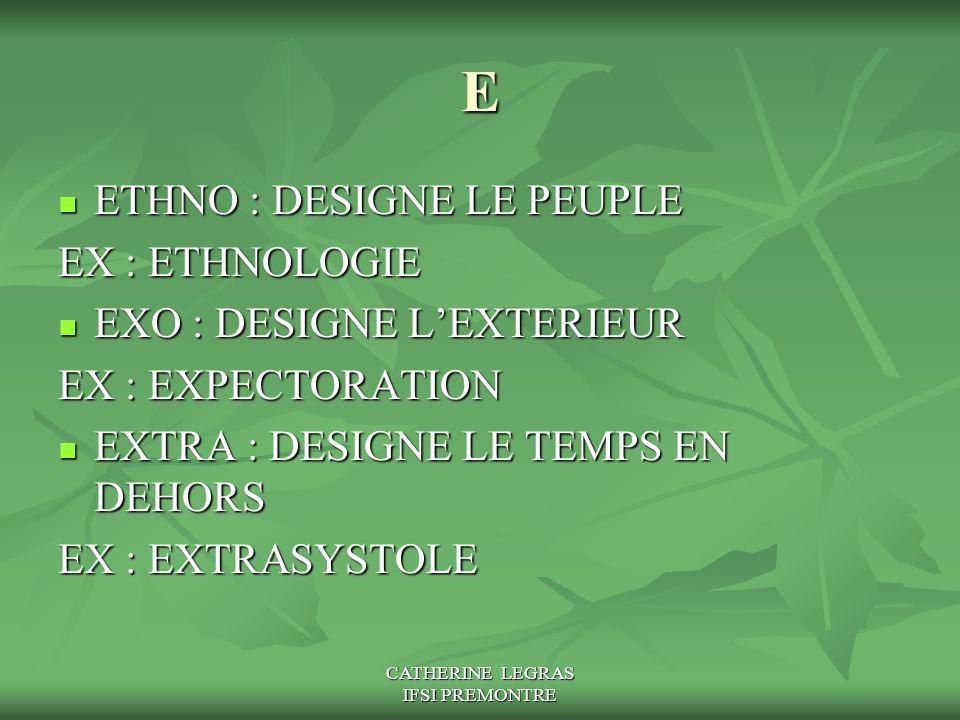 CATHERINE LEGRAS IFSI PREMONTRE E ETHNO : DESIGNE LE PEUPLE ETHNO : DESIGNE LE PEUPLE EX : ETHNOLOGIE EXO : DESIGNE L'EXTERIEUR EXO : DESIGNE L'EXTERI