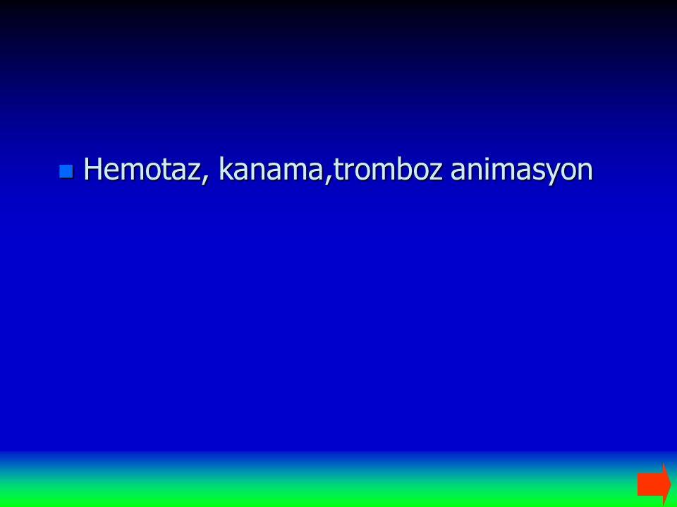 n Hemotaz, kanama,tromboz animasyon