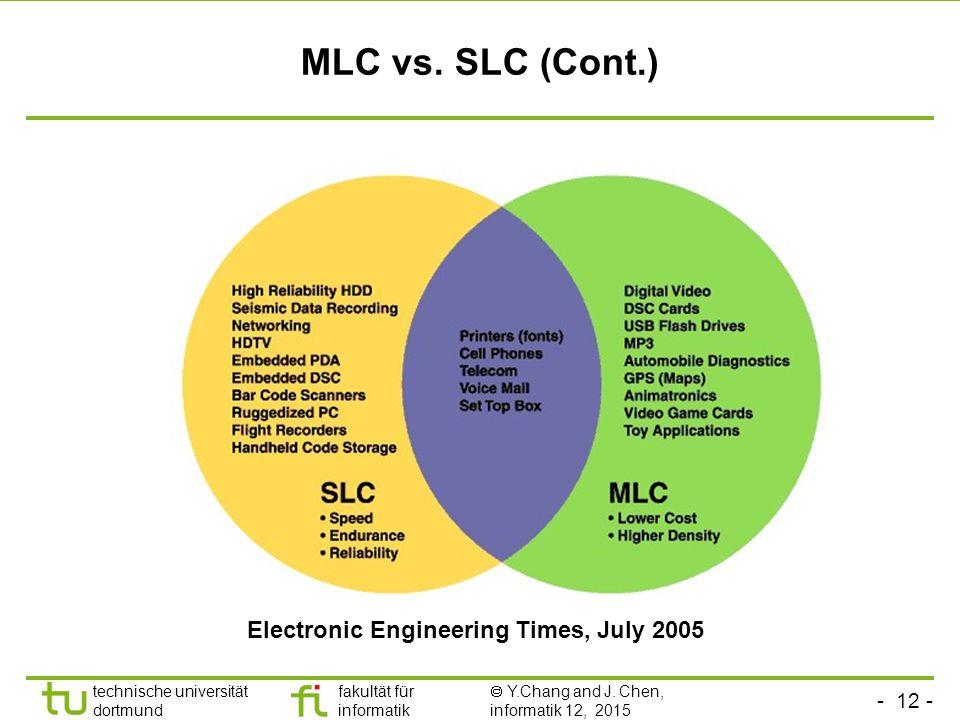 - 12 - technische universität dortmund fakultät für informatik  Y.Chang and J.
