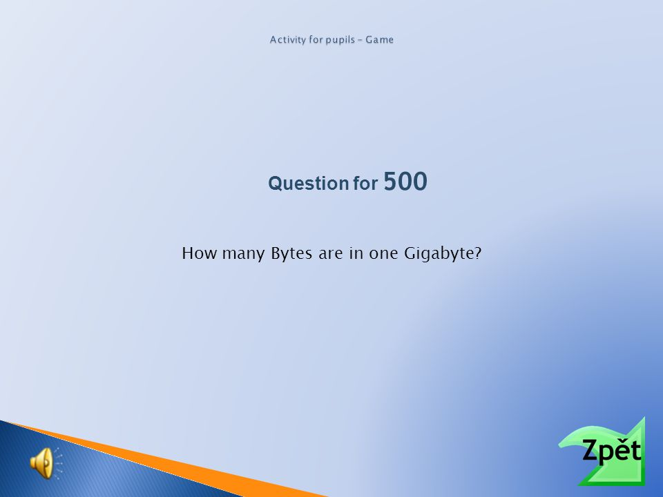 Question for 500 How many Bytes are in one Megabyte?