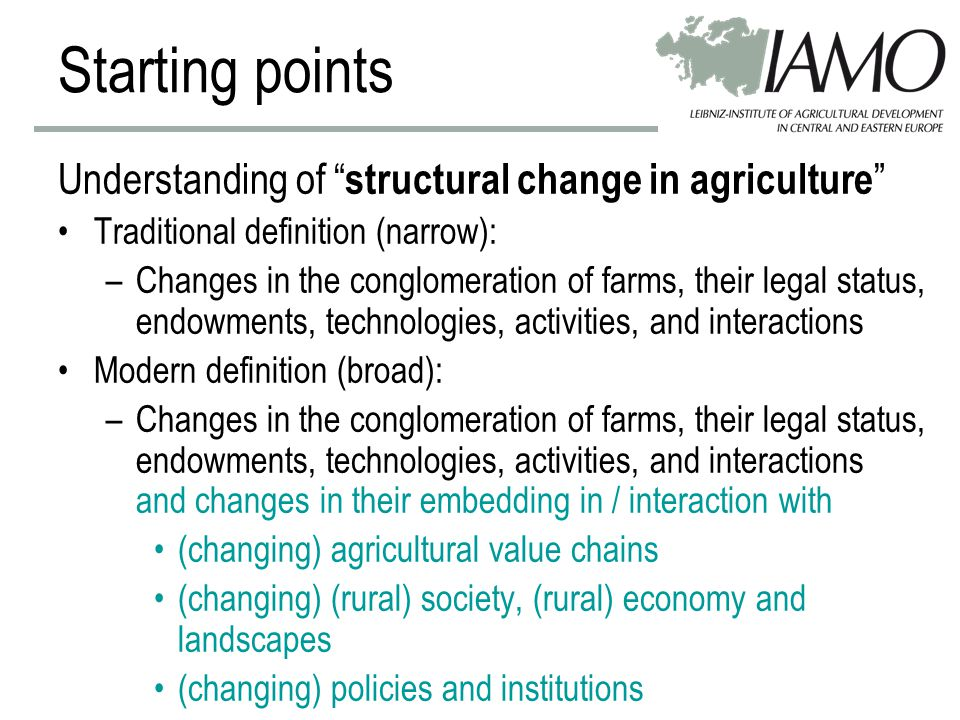 Farmers should … –recognize structural deficits –understand structural change –explore and recognize opportunities new markets (energy, fibers, …) vertical and horizontal integration –doubt in policy incentives Conclusions