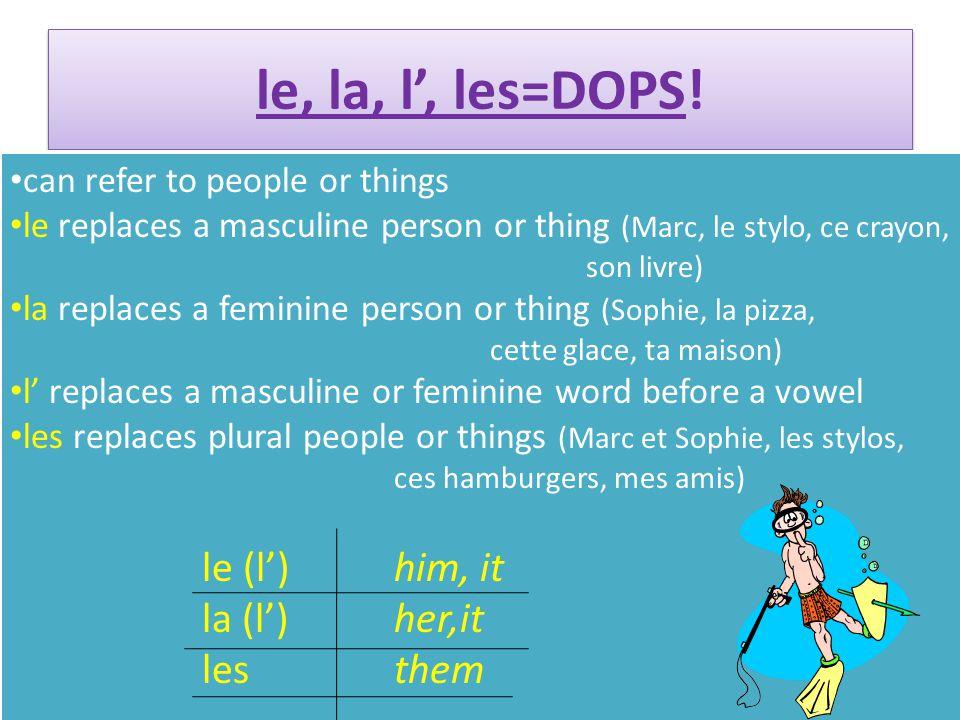 le, la, l', les=DOPS.