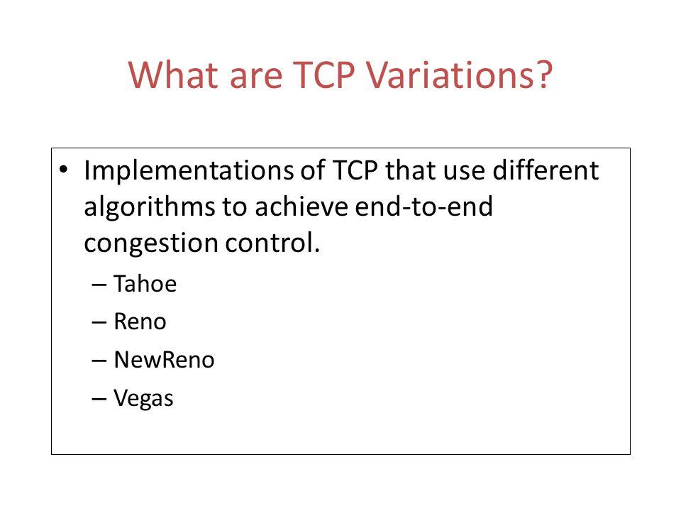 t=xr t=(x+1)r Fast Retransmit Packet Ack At a random point in the transfer pkt 15 pkt 16 pkt 17 pkt 18 pkt 19 pkt 20 ack 15 ack 16 pkt 17 (retransmit) ack 16 3 dup acks TCP Receiver TCP Sender Fast Retransmit