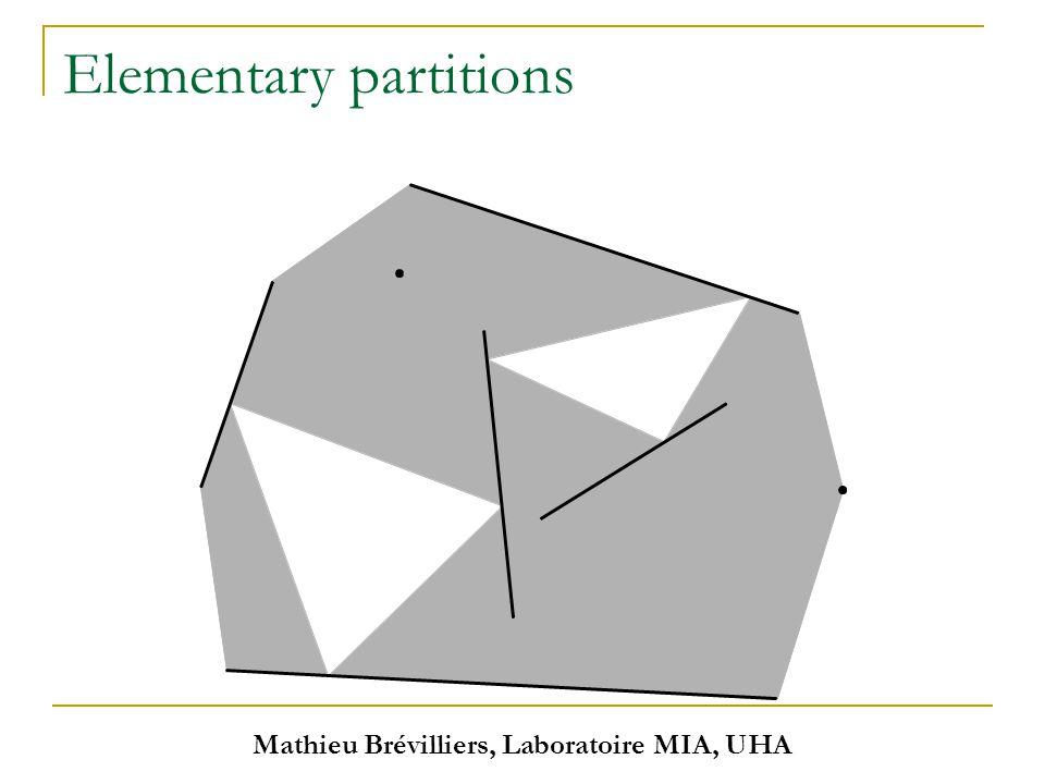 Mathieu Brévilliers, Laboratoire MIA, UHA Elementary partitions