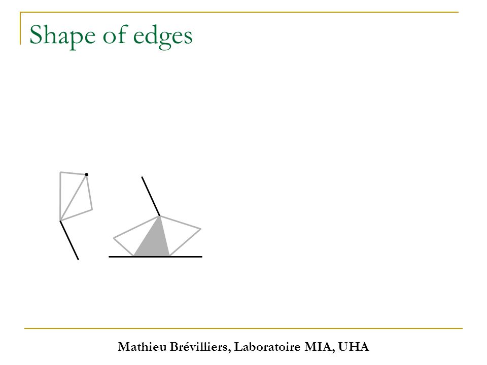 Mathieu Brévilliers, Laboratoire MIA, UHA Shape of edges