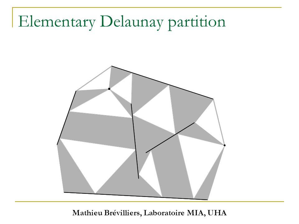 Mathieu Brévilliers, Laboratoire MIA, UHA Elementary Delaunay partition