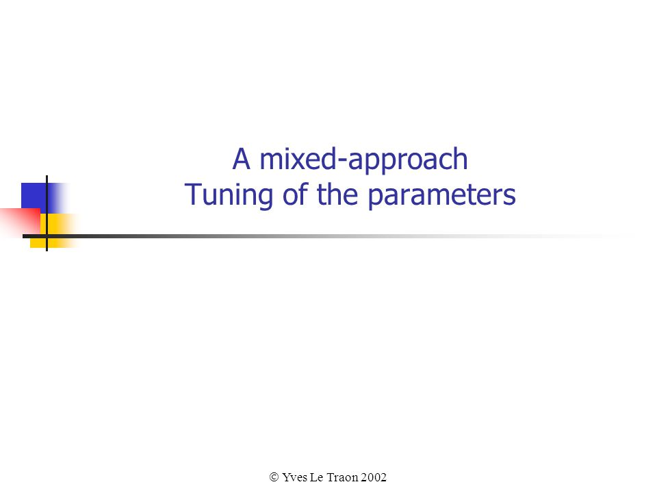  Yves Le Traon 2002 A mixed-approach Tuning of the parameters