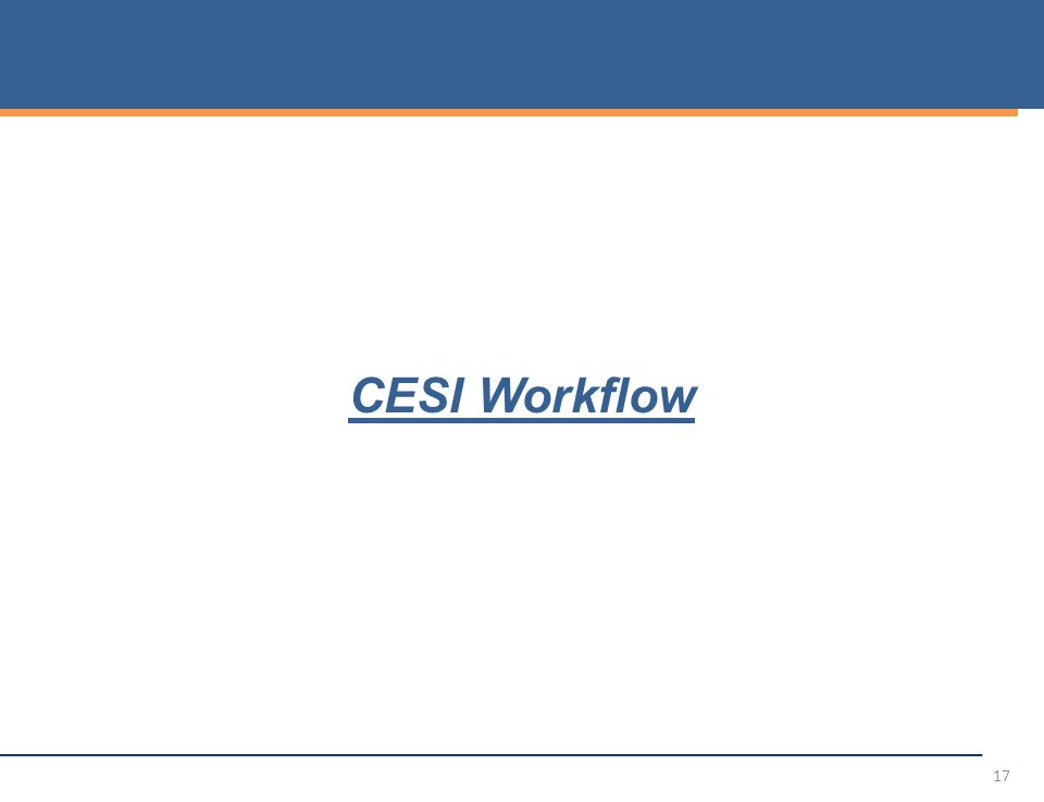 CESI Workflow 17