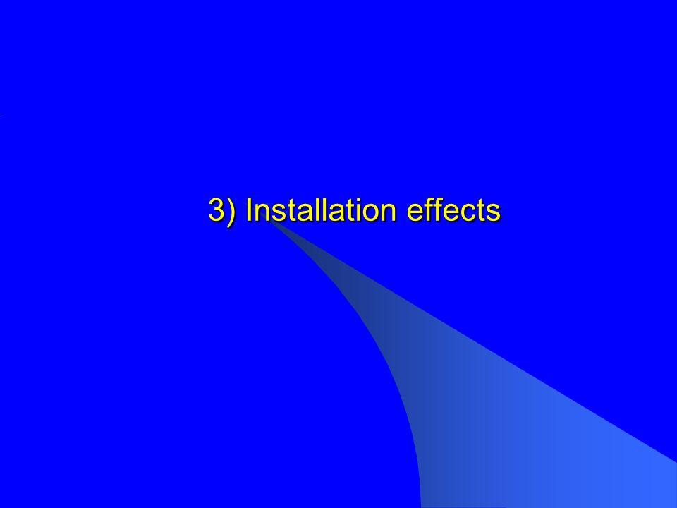 3) Installation effects