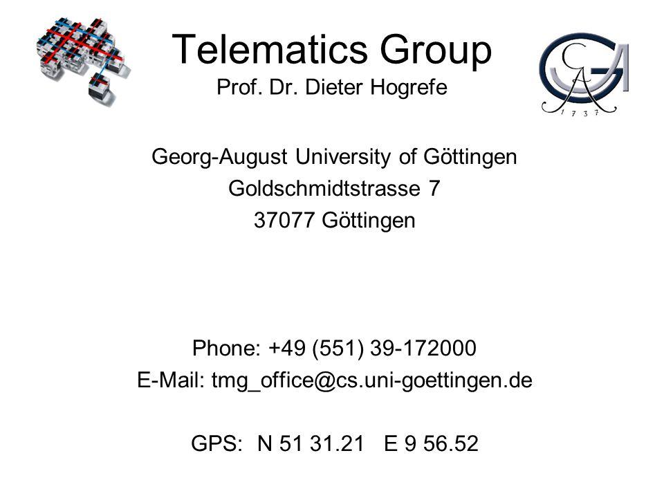 Telematics Group Prof.Dr.