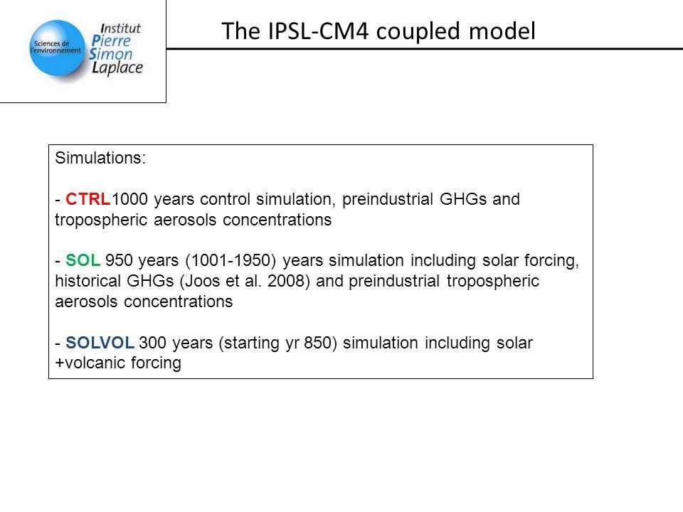 TSI Crowley (2000), W/m -2 (a) 1363 1365 1367 The solar forcing 1000 1200 1600180020001400 Calendar time SOL SOLVOLKrivova, pers.