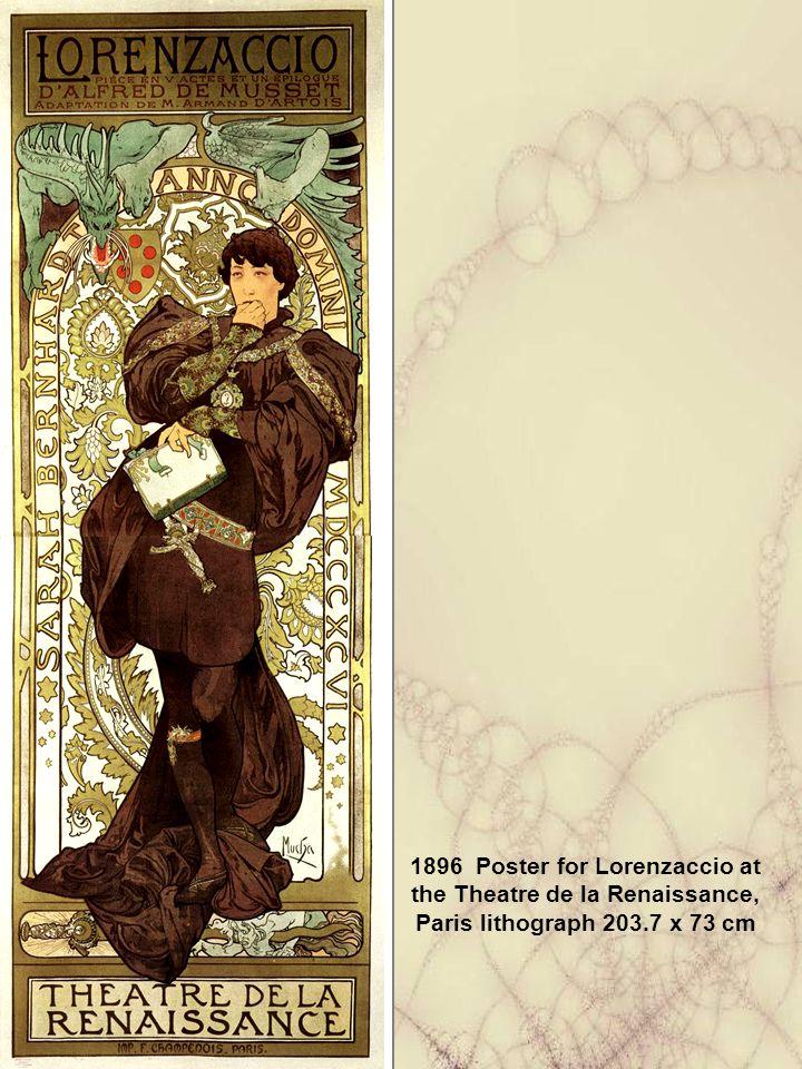 1896 Poster for Lorenzaccio at the Theatre de la Renaissance, Paris lithograph 203.7 x 73 cm