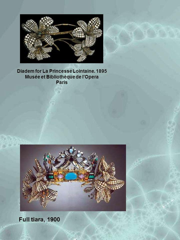 Full tiara, 1900 Diadem for La Princesse Lointaine. 1895 Musée et Bibliothèque de l'Opera Paris