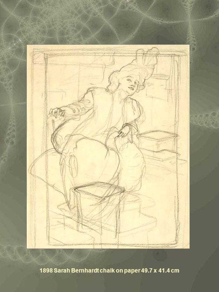 1898 Sarah Bernhardt chalk on paper 49.7 x 41.4 cm