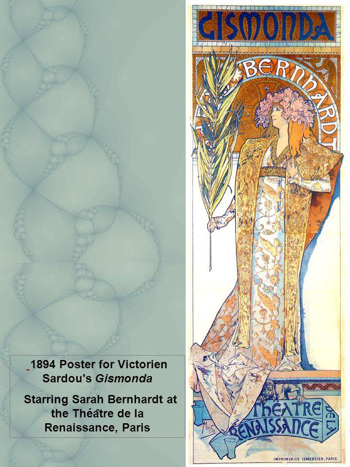 1894 Poster for Victorien Sardou s Gismonda Starring Sarah Bernhardt at the Théa ̂ tre de la Renaissance, Paris