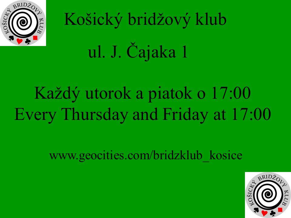Košický bridžový klub ul. J.