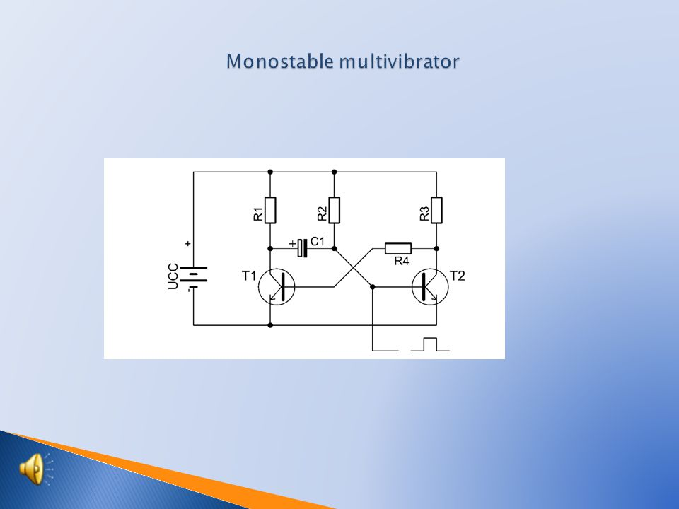  Scheme of monostable multivibrator  Components specification  Recessing drawing  Recessing drawing from the side of joints  Function of connection  Students activities