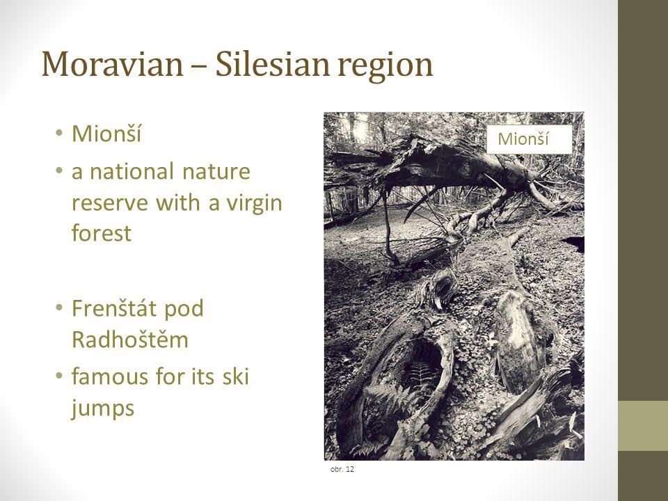 Moravian – Silesian region obr. 12 Mionší a national nature reserve with a virgin forest Frenštát pod Radhoštěm famous for its ski jumps Mionší