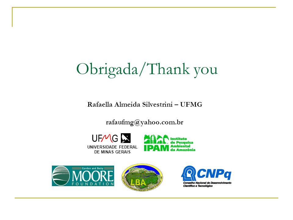 Obrigada/Thank you Rafaella Almeida Silvestrini – UFMG rafaufmg@yahoo.com.br UNIVERSIDADE FEDERAL DE MINAS GERAIS