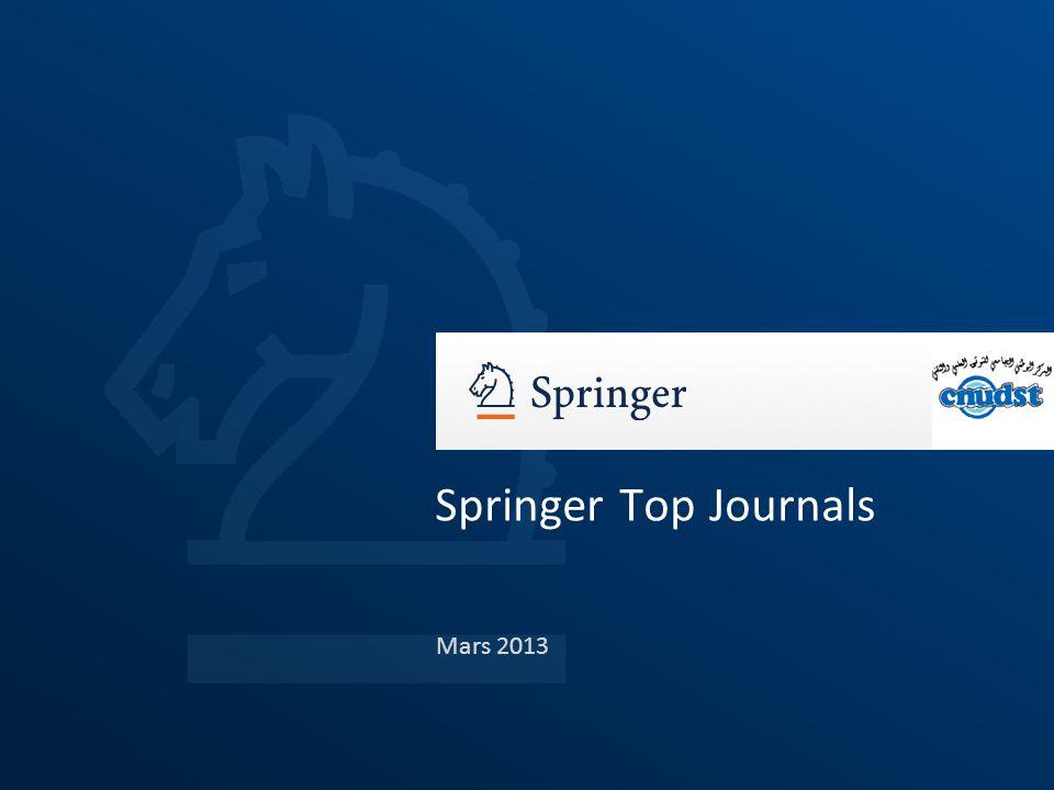 Mars 2013 Springer Top Journals
