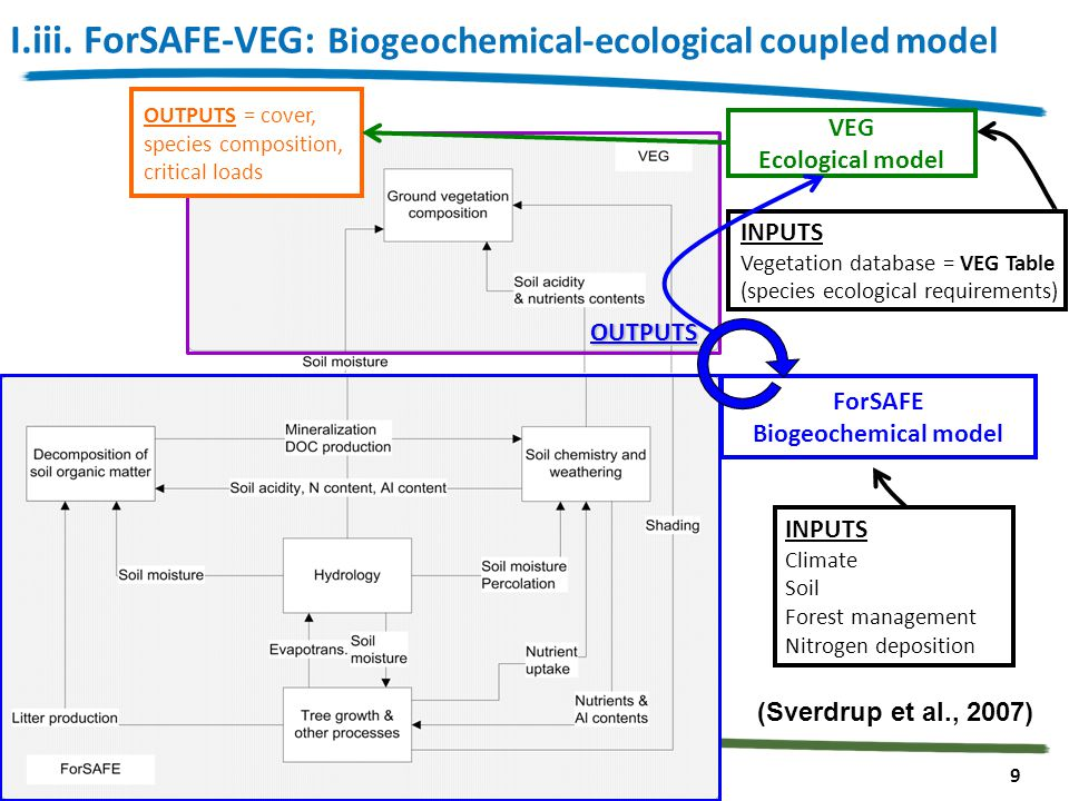 19th biennal ISEM Conference / Simon RIZZETTO Toulouse, 28 th October 2013 9 INPUTS Vegetation database = VEG Table (species ecological requirements)