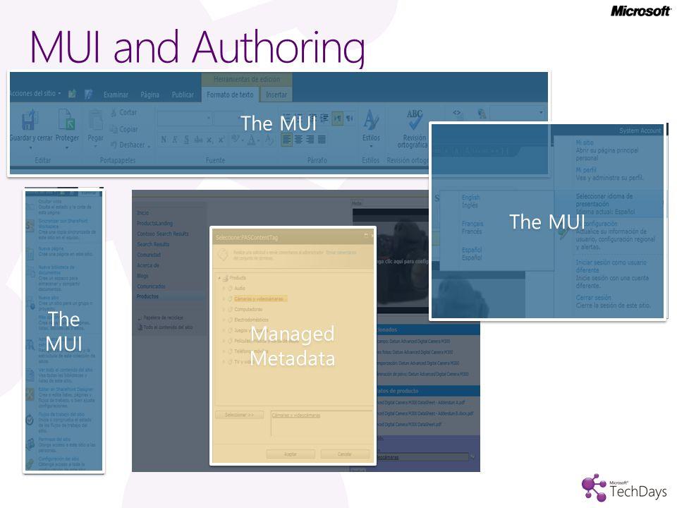 MUI and Authoring