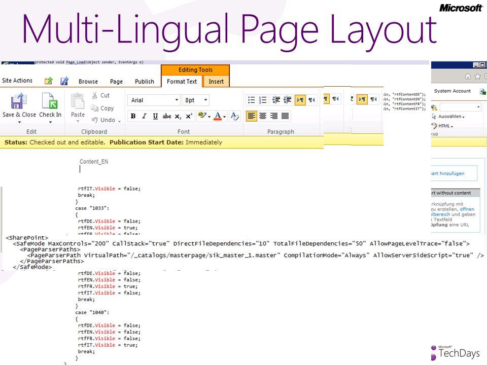 Multi-Lingual Page Layout