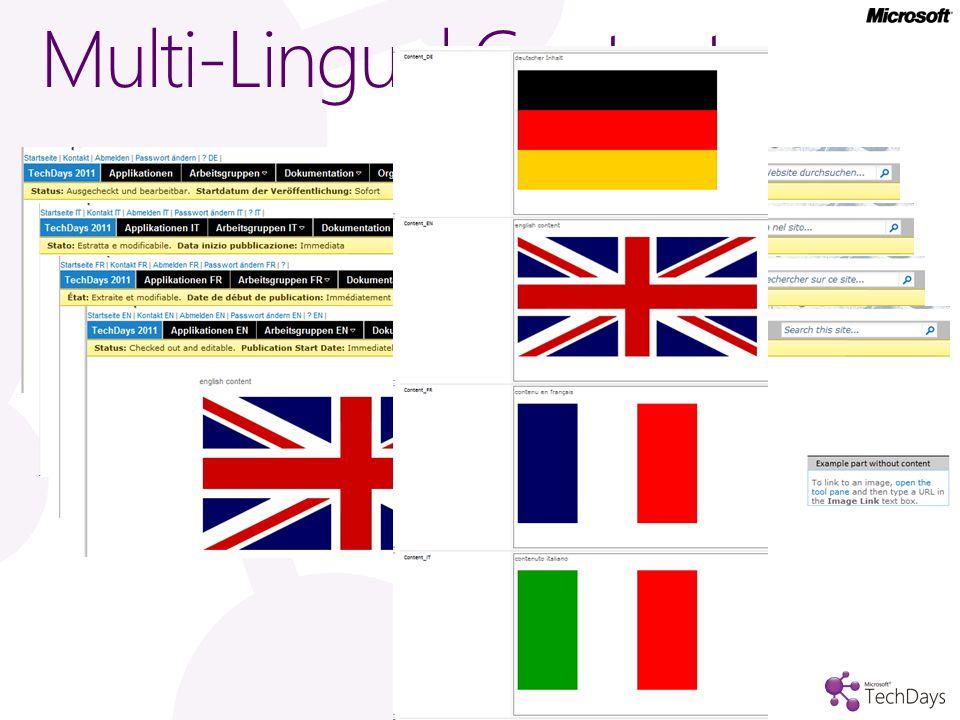 Multi-Lingual Content