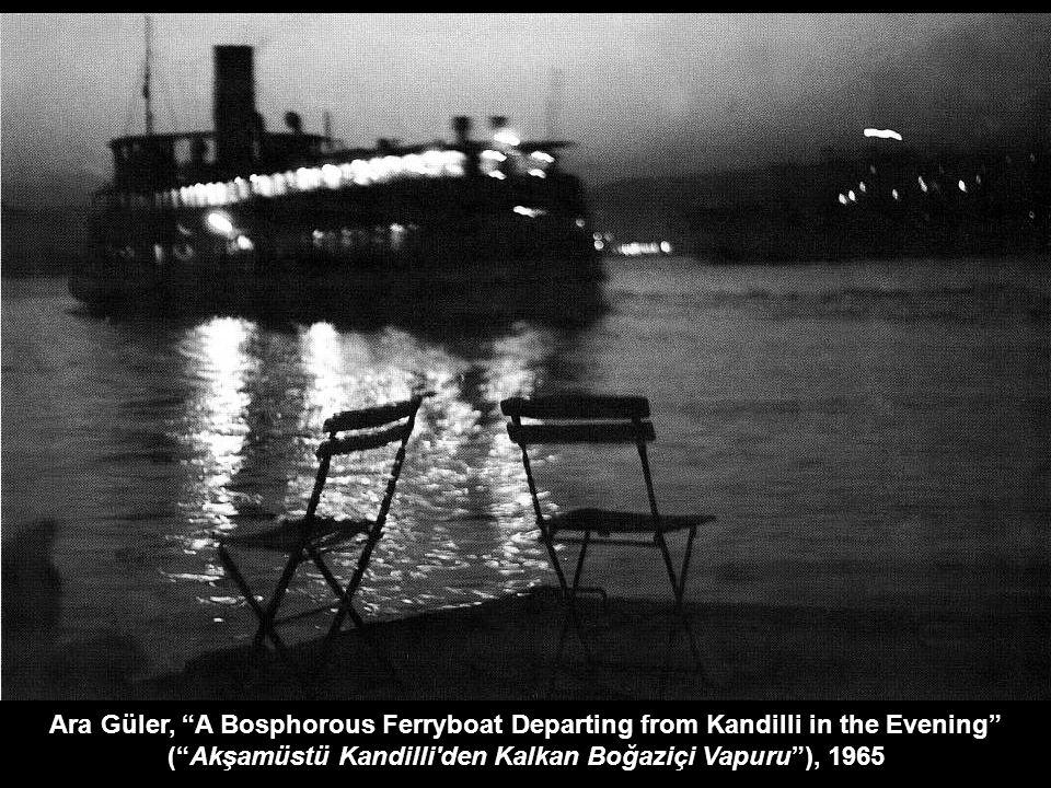 Ara Güler, A Bosphorous Ferryboat Departing from Kandilli in the Evening ( Akşamüstü Kandilli den Kalkan Boğaziçi Vapuru ), 1965