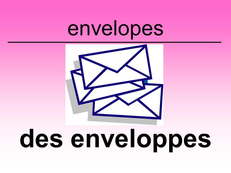 envelopes des enveloppes