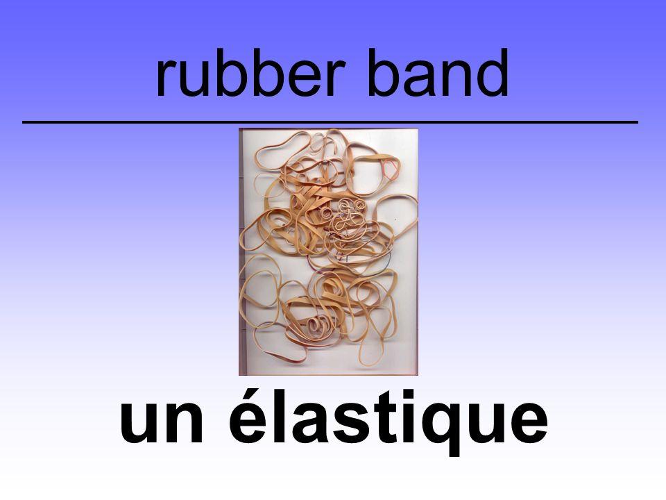 un élastique rubber band