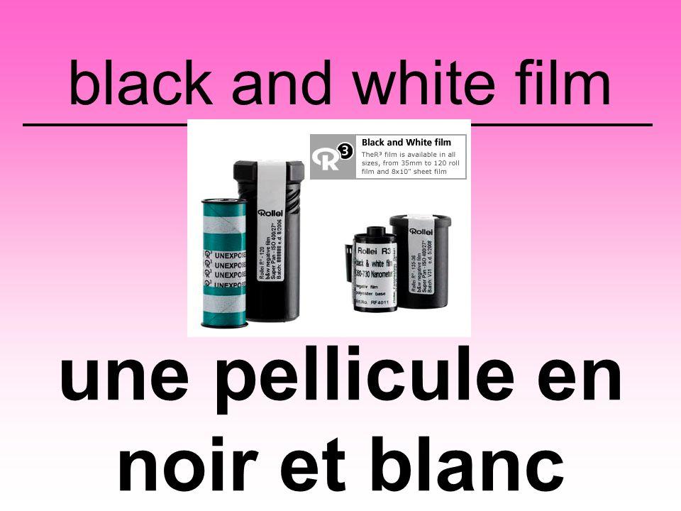 black and white film une pellicule en noir et blanc