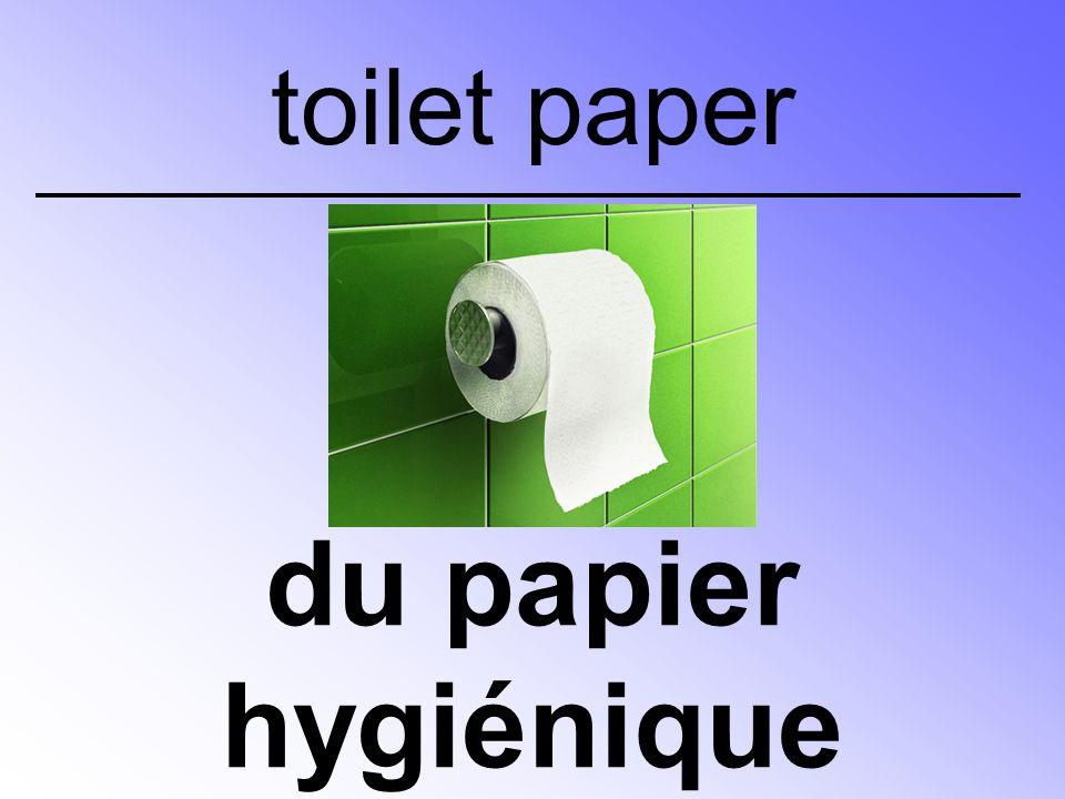 du papier hygiénique toilet paper