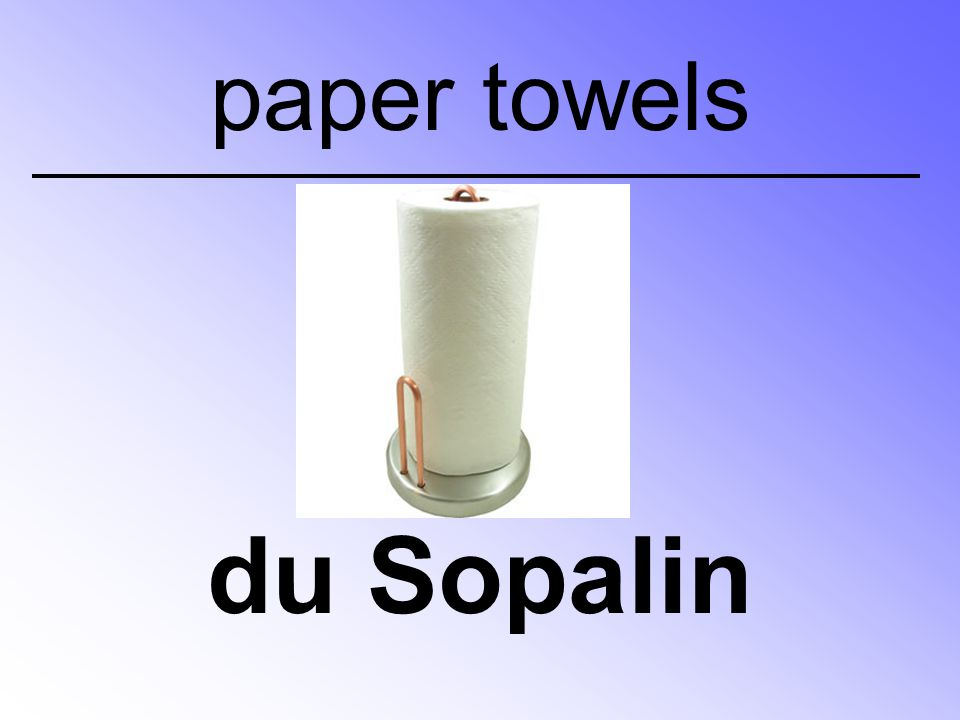 du Sopalin paper towels