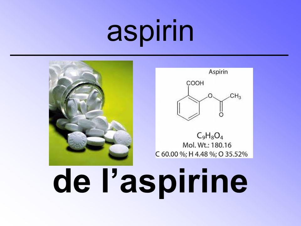 de l'aspirine aspirin
