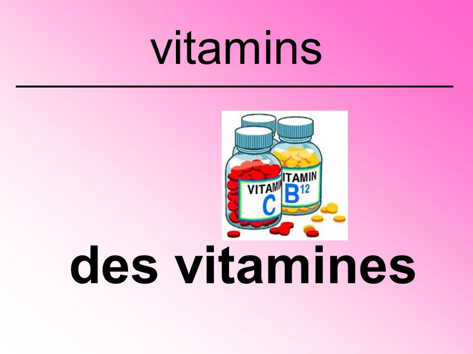 des vitamines vitamins
