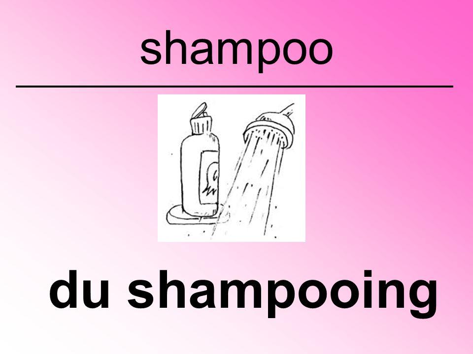 du shampooing shampoo
