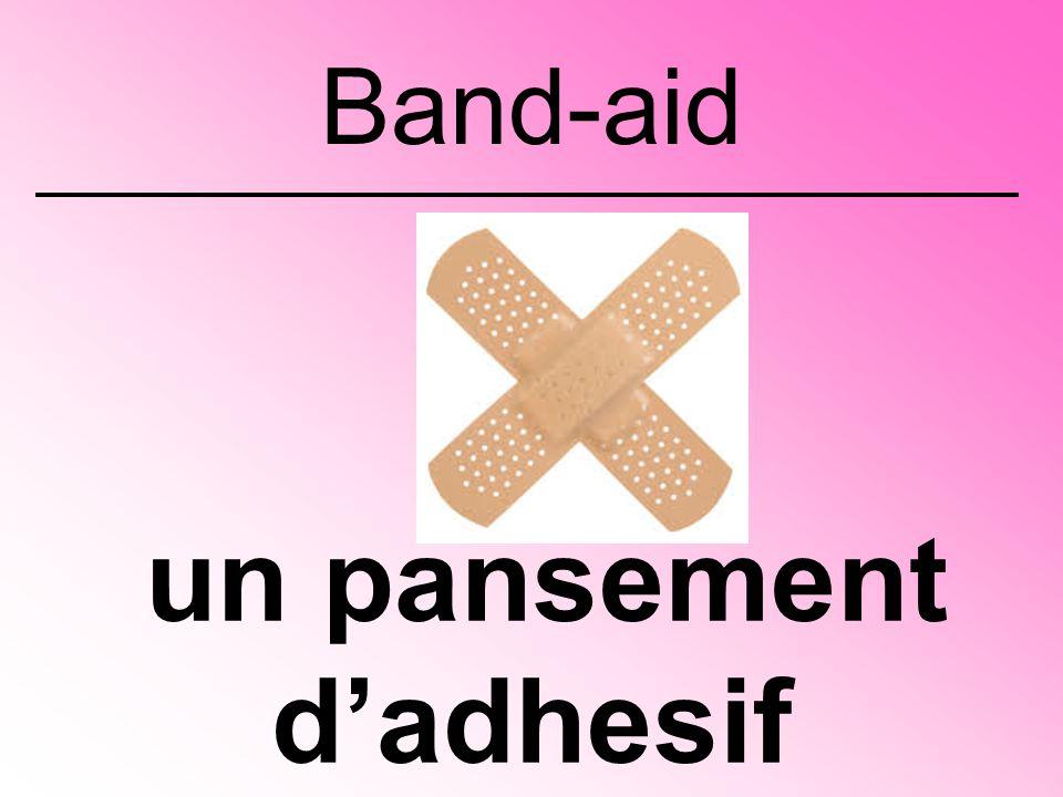 un pansement d'adhesif Band-aid