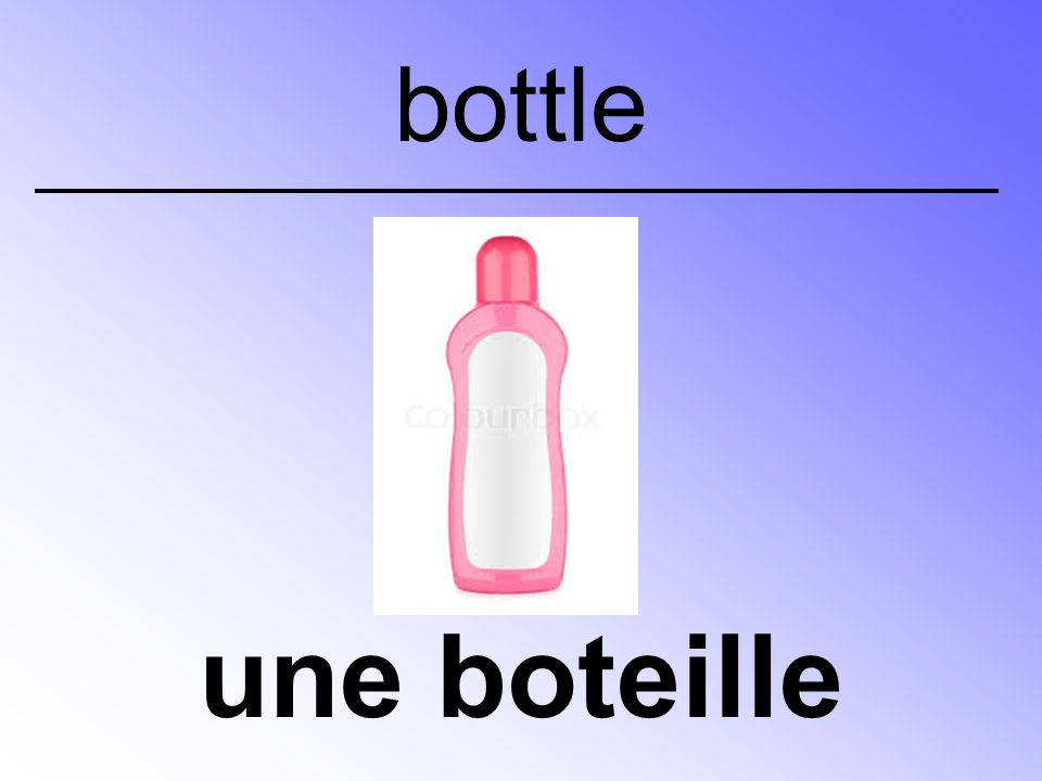 une boteille bottle