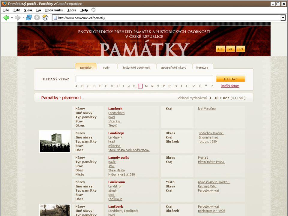 Návrh prezentácie na webe