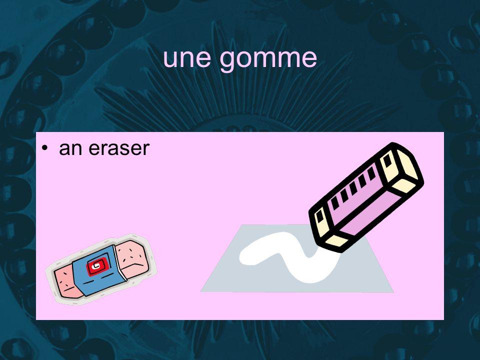 une gomme an eraser