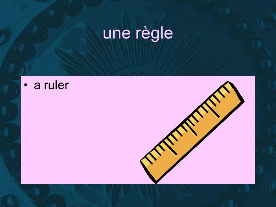 une règle a ruler