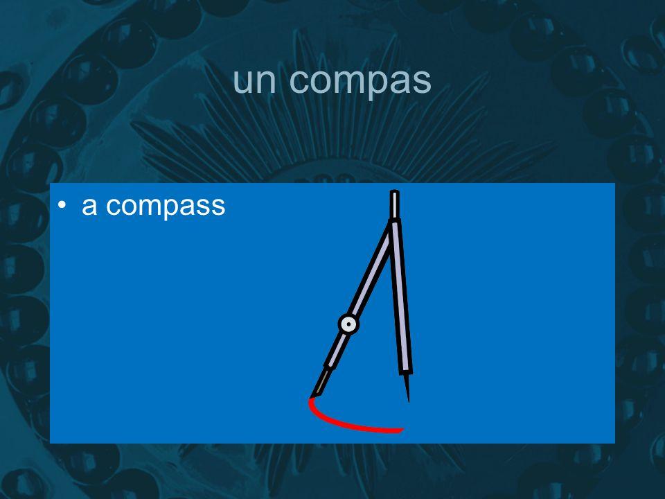un compas a compass
