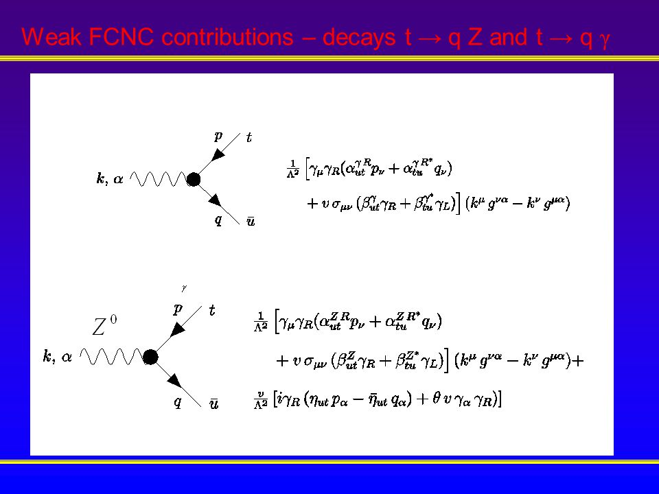RESULTS We found a direct proportionality between the cross sections of several FCNC processes and the FCNC Branching ratios.