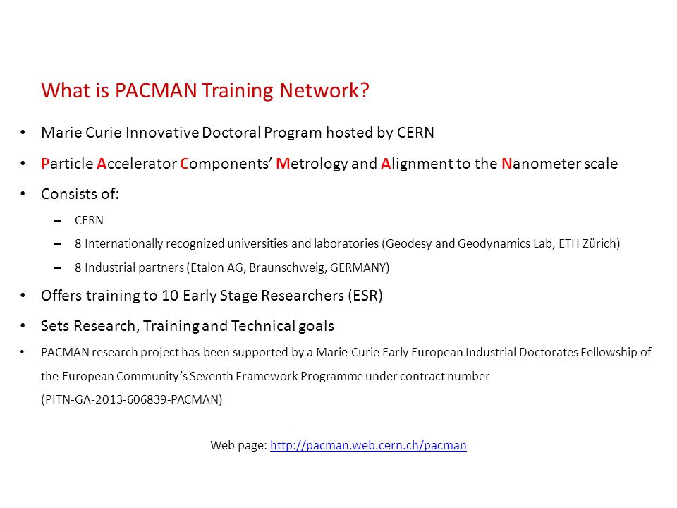 What is PACMAN Training Network.