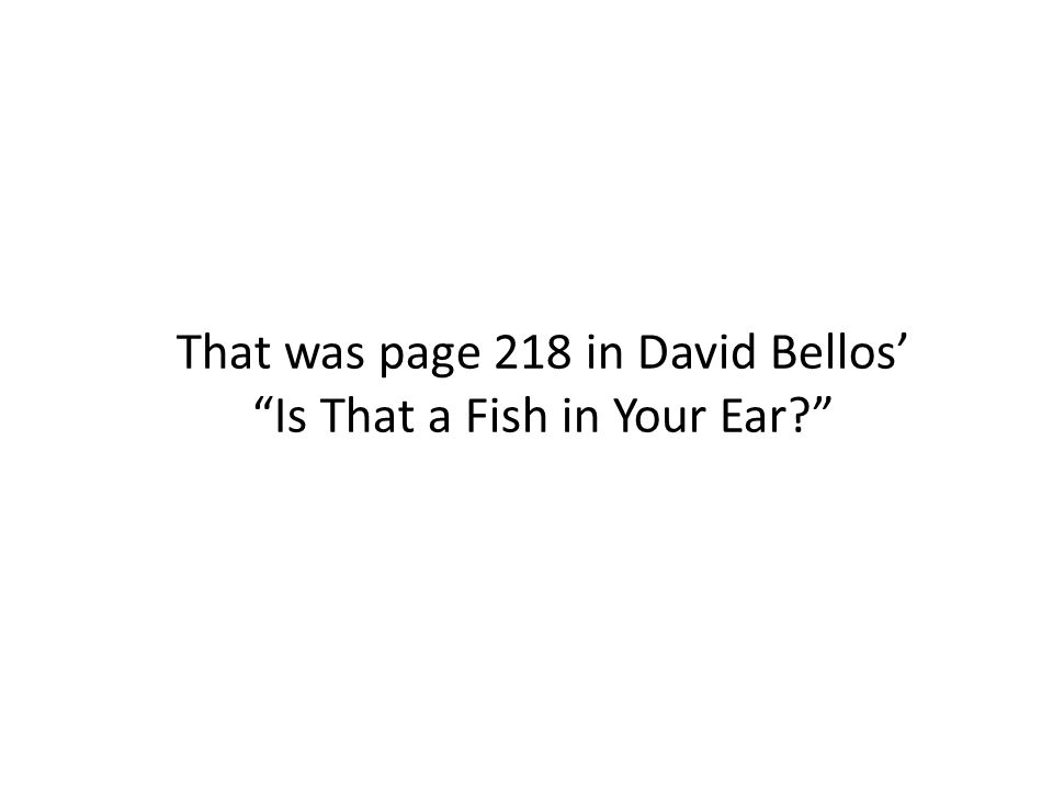 That was page 218 in David Bellos' Is That a Fish in Your Ear